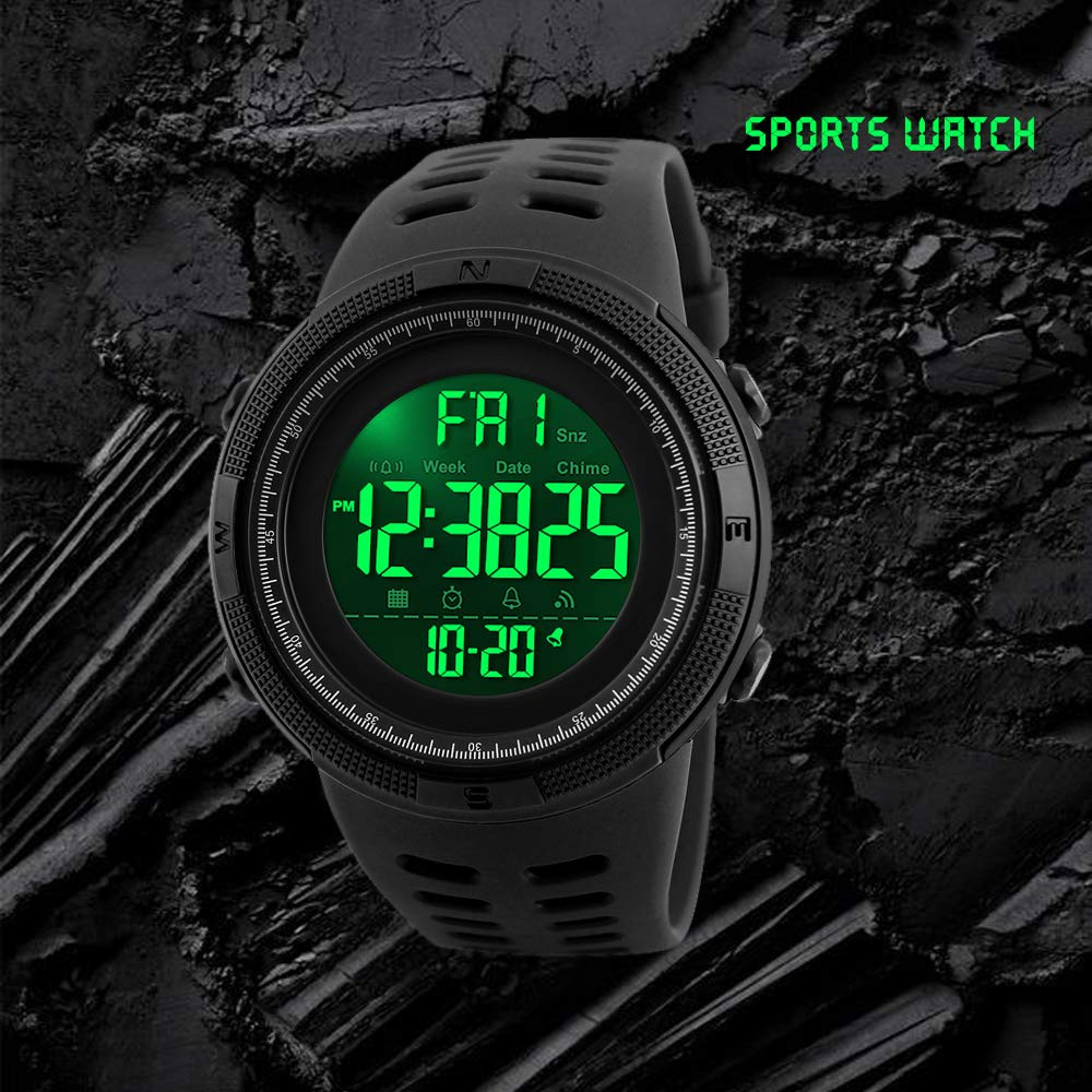 Men's Watches Watches Skmei Sport Watch Fashion Outdoor World Time Summer Countdown Waterproof Digital Wristwatches Men Compass Military Watches 2019 Neither Too Hard Nor Too Soft