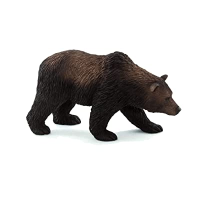 MOJO Grizzly Bear Realistic International Wildlife Toy Replica Hand Painted Figurine: Toys & Games