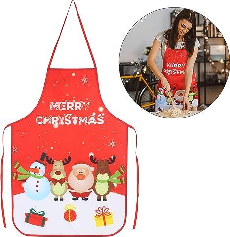 Weihnachten Deco Schürze Erwachsene Küchenschürze Latzschürze Backen Kochschürze