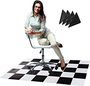 Office Chair Mat with Anti Curling Grippers - Chair Mat for Hardwood Floor - Ideal As Computer & Desk Chair Mat - 47 x 35 Inches - Perfect for Rolling Chairs