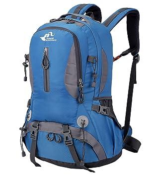 Free Knight - Senderismo Mochila Ligera de Gran Capacidad Mochila para Montañismo Alpinismo Camping Climbing Mochila Impermeable de Viajes - 40L - Azul: ...