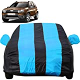 Autofact Car Body Cover with Mirror Pockets Compatible for Renaults Duster (Triple Stitched, Bottom Fully Elastic, Teak Blue Color)