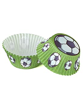 Generique - balones de fútbol moldes para Cupcakes 50 Unidades Ø 5 cm, 3 cm de Altura: Amazon.es: Juguetes y juegos