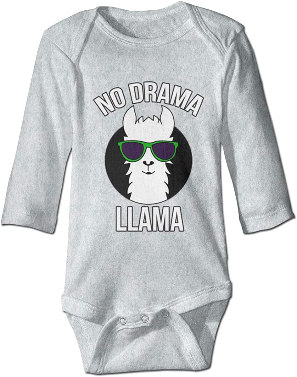 Marsherun Babys Girl Boy No Drama No Llama Long Sleeve Bodysuit One-Piece Playsuits