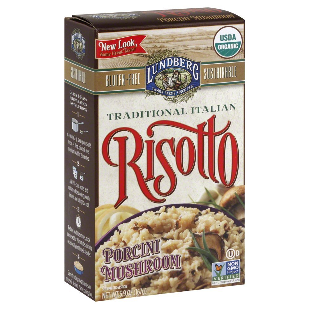 Lundberg Risotto Porcini Mushroom Organic, Gluten Free 5.9 OZ(Pack of 6)