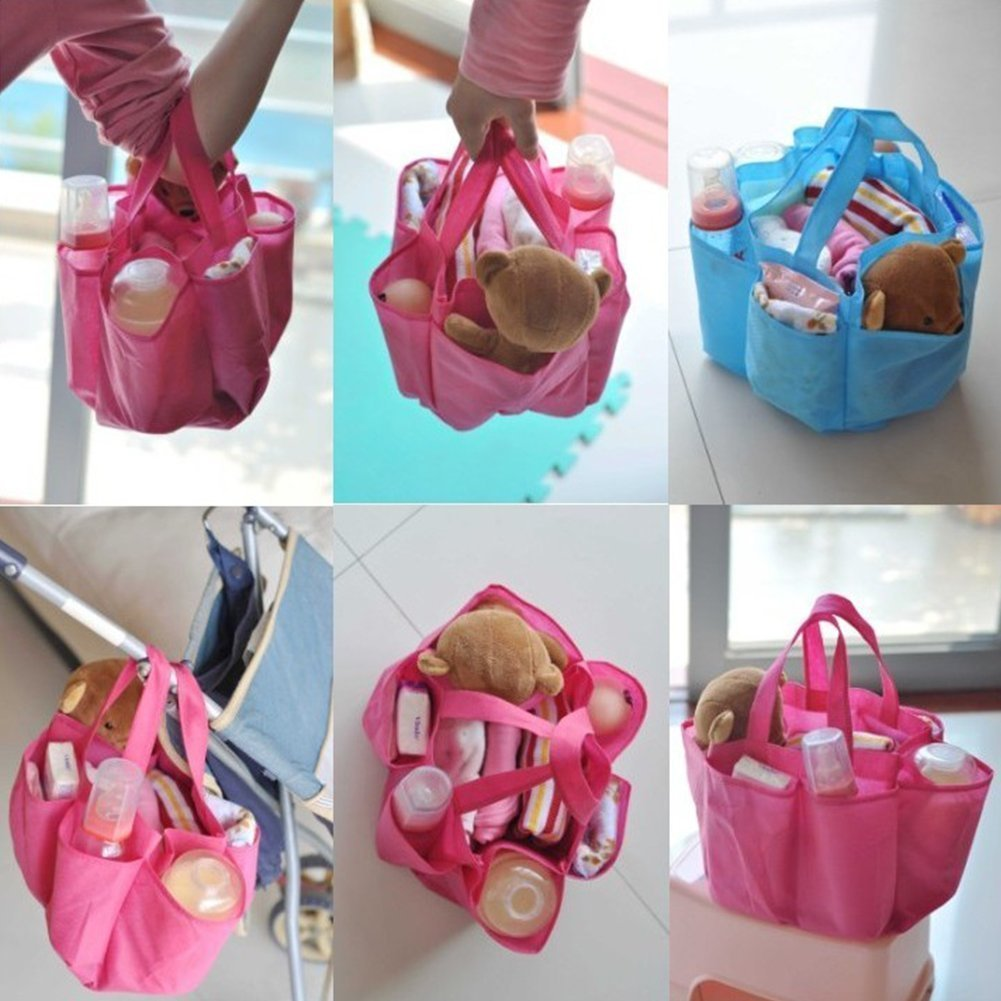 ForuMall Mummy Bag Bottle Storage Travel Outdoor Portable Baby Diaper Nappy Storage Insert Organizer Bag Tote