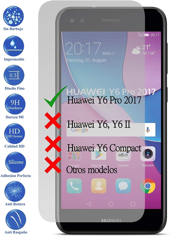 Todotumovil Protector de Pantalla Huawei Y6 Pro 2017 de Cristal Templado Vidrio 9H para movil