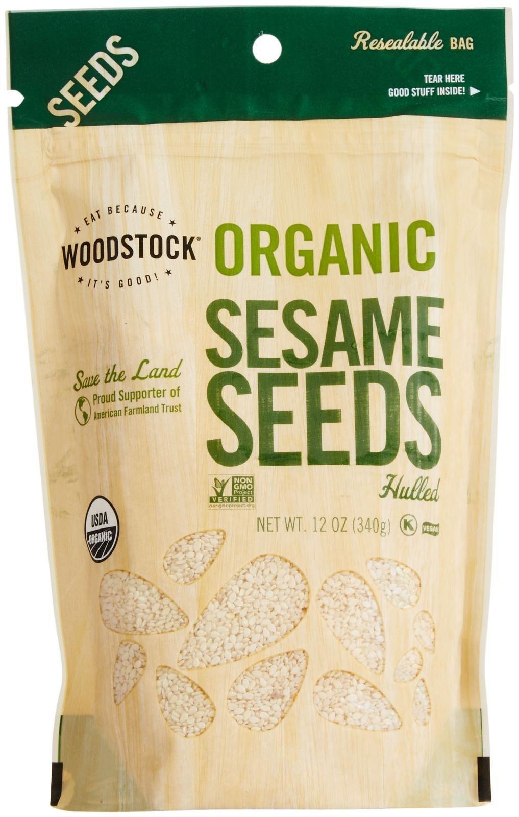 Woodstock Farms Organic Sesame Seeds,12 Ounce