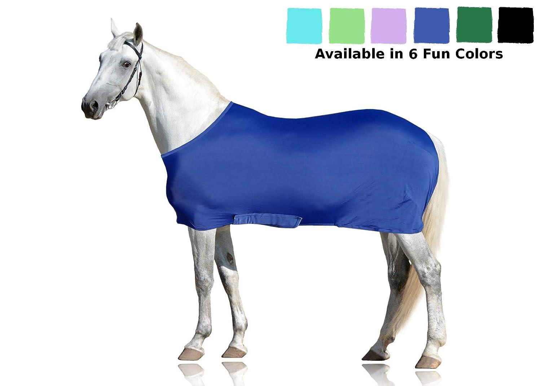 bluee Medium bluee Medium Derby Originals Lycra Horse Body Sheet