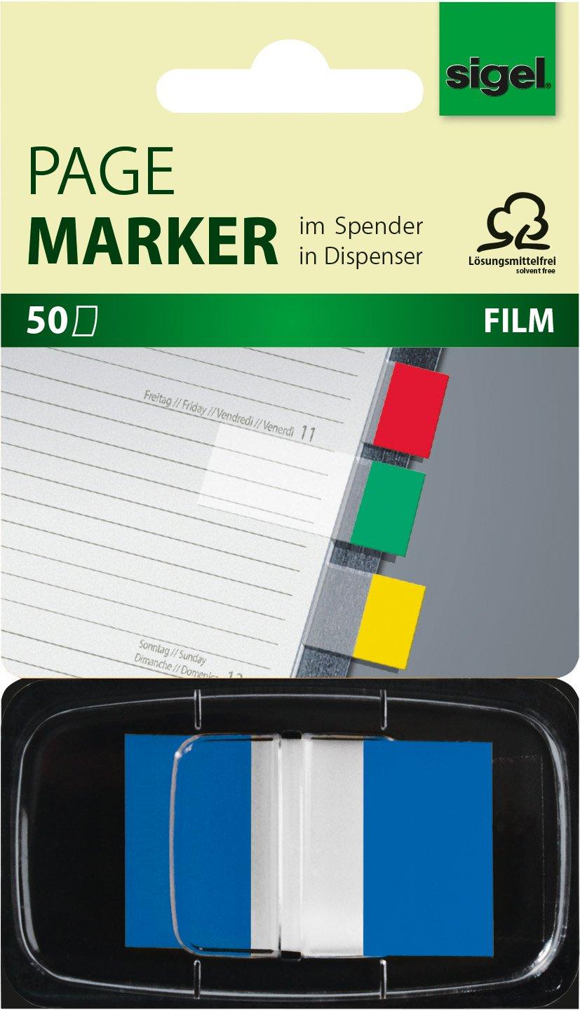 Film 4 colours SIGEL HN495 Index Page Marker strip-size:12x43 mm 144 strips