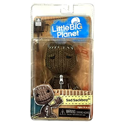 "NECA Little Big Planet 7"" Scale Series 1 Sackboy Sad Action Figure: Toys & Games"