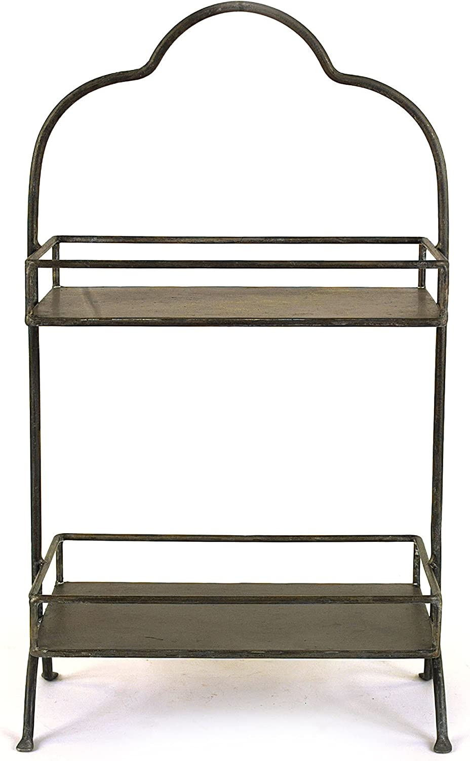 "Creative Co-op Decorative Metal Two Tier Tray with Handle, 10.6"" L x 5.9"" W x 17.9"" H: Home & Kitchen"