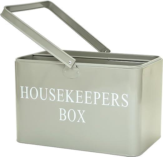 east2eden - Caja retro vintage para herramientas de limpieza, color gris: Amazon.es: Hogar