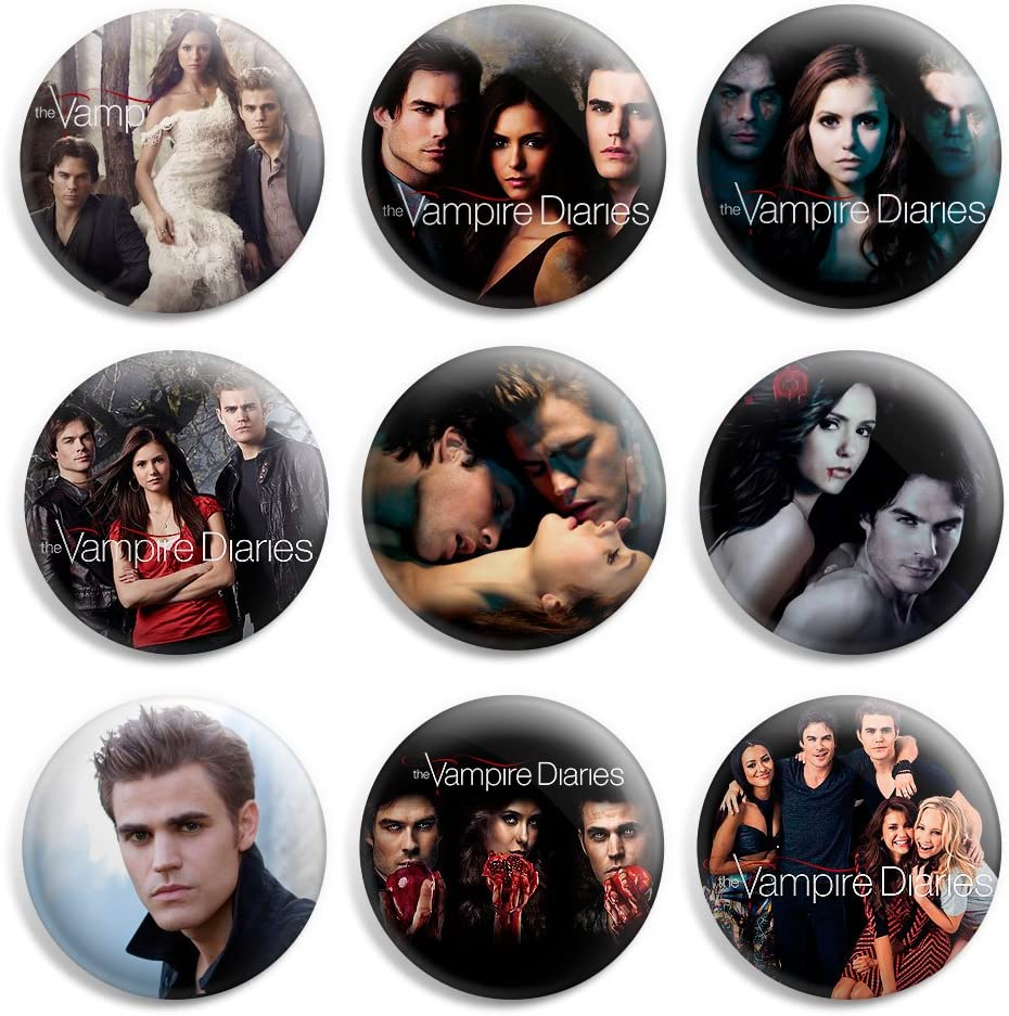 """/' I LOVE VAMPIRES /' Button Badge PIn High Quality 25mm 1/"""""""
