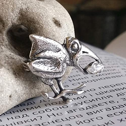 Amazon com: 925 Sterling Silver Bird Brooch Pins with Large