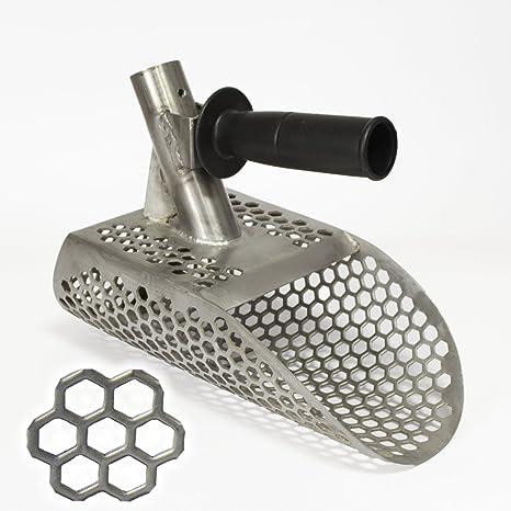 Pequeña arena pala con hexaedro agujeros para detección de metales – acero inoxidable 2 mm