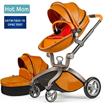 Baby Stroller 2018, Hot Mom 3 in 1 travel system Baby Carriage with  Bassinet Combo