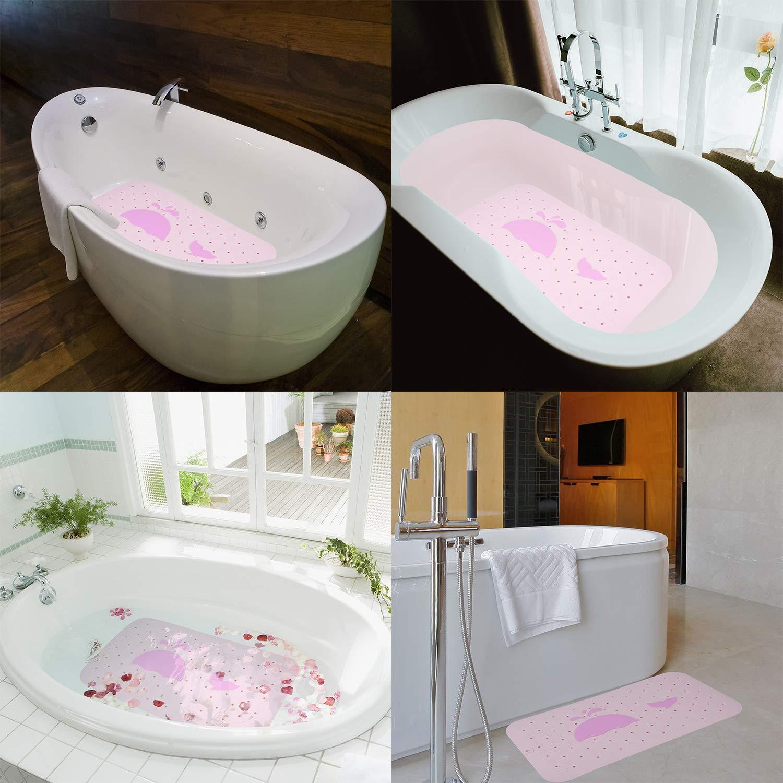 Antibakteriell Antirutschmatte Dusche Pink, 66 * 36cm Duschwanneneinlage rutschfest mit Massage Ball f/ür Badewanne Silikon Duschmatten Dusche rutschfest Arovene Duschmatte rutschfest
