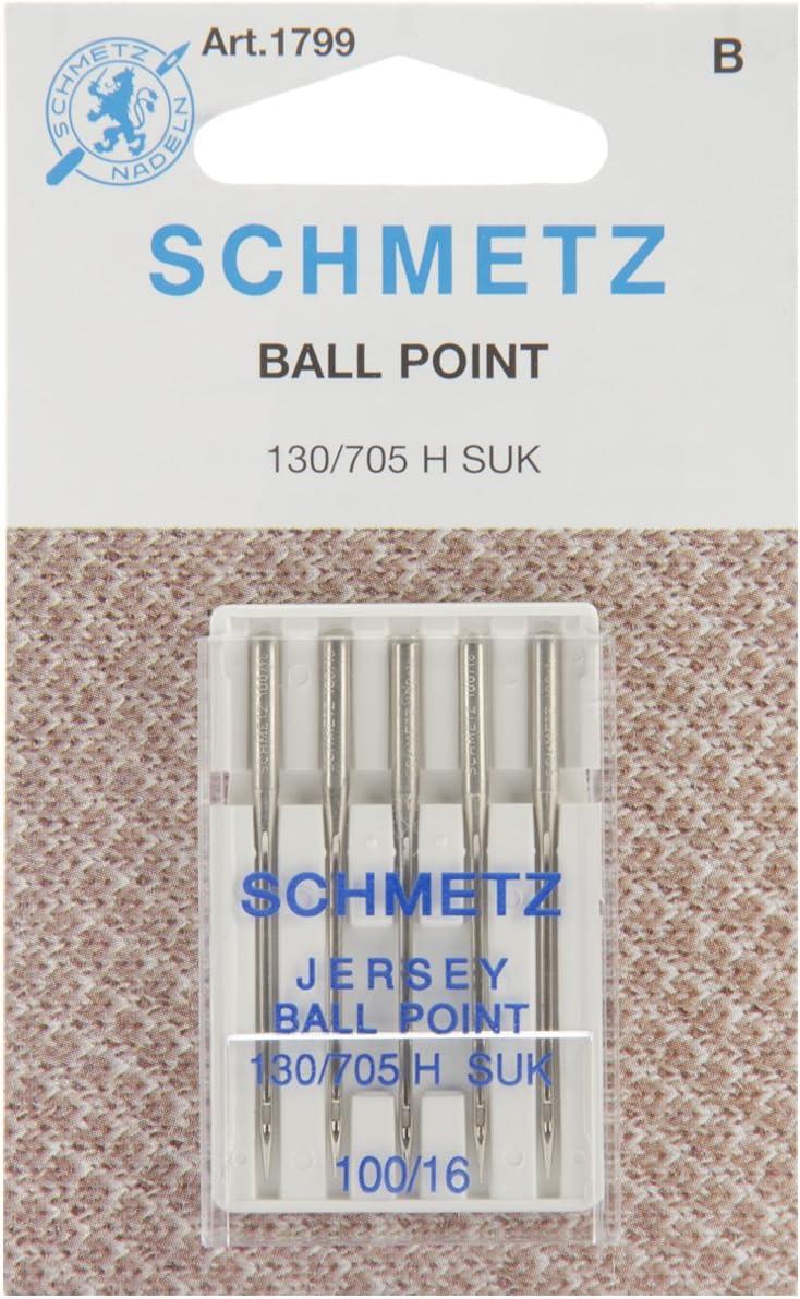 Schmetz Jersey (130/705H Suk) Agujas para máquina de coser–para–tamaño 100/16