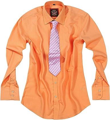 Camisas de vestir para hombre lisas para oficina, negocios, traje de boda y manga larga casual, 10 colores brillantes. Ropa británica Janeo, hombre más grande, ajuste cónico.: Amazon.es: Ropa y accesorios