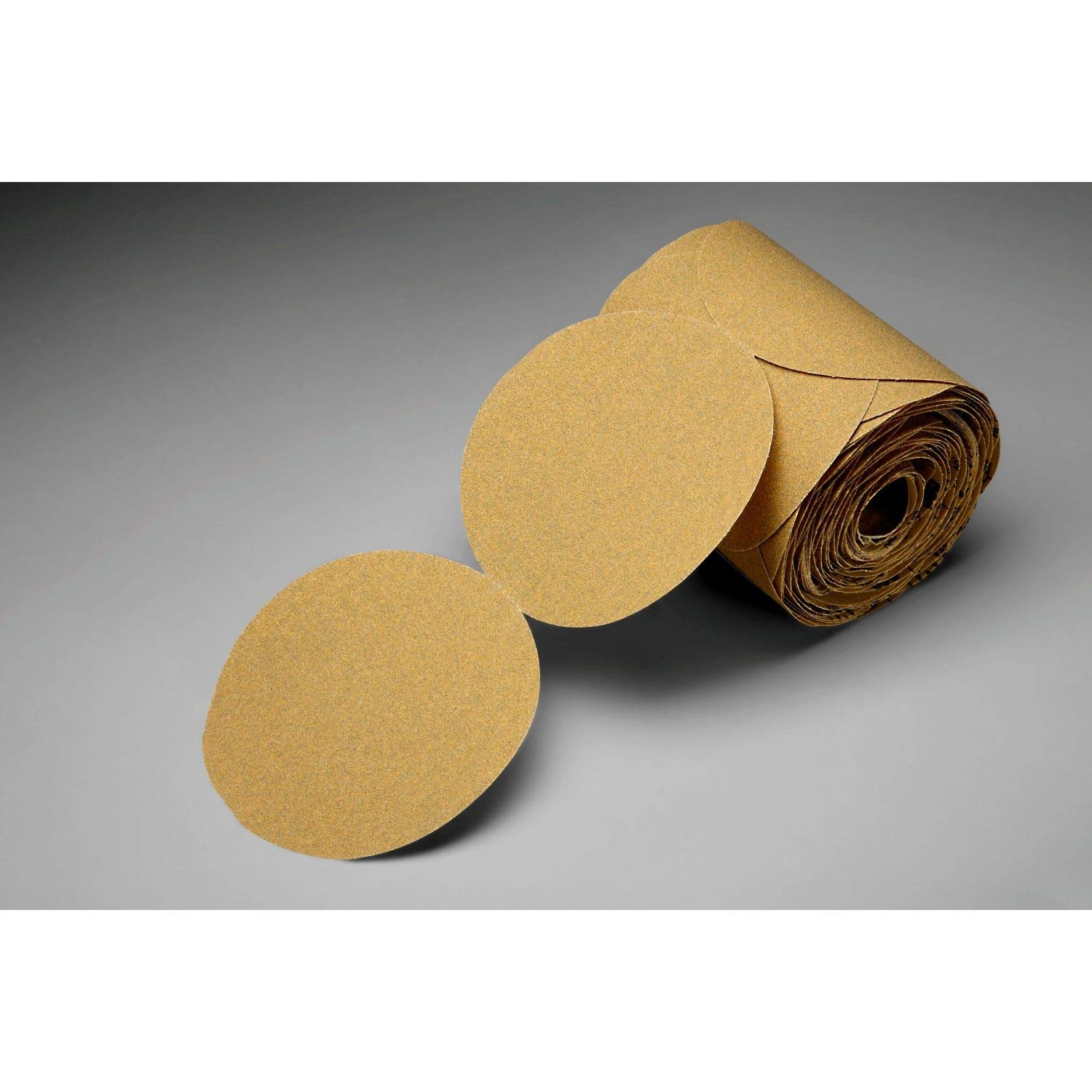 3M Stikit Gold Paper Disc Roll 216U, P240 A-weight, 5 in x NH, Die 500X, 175 discs per roll