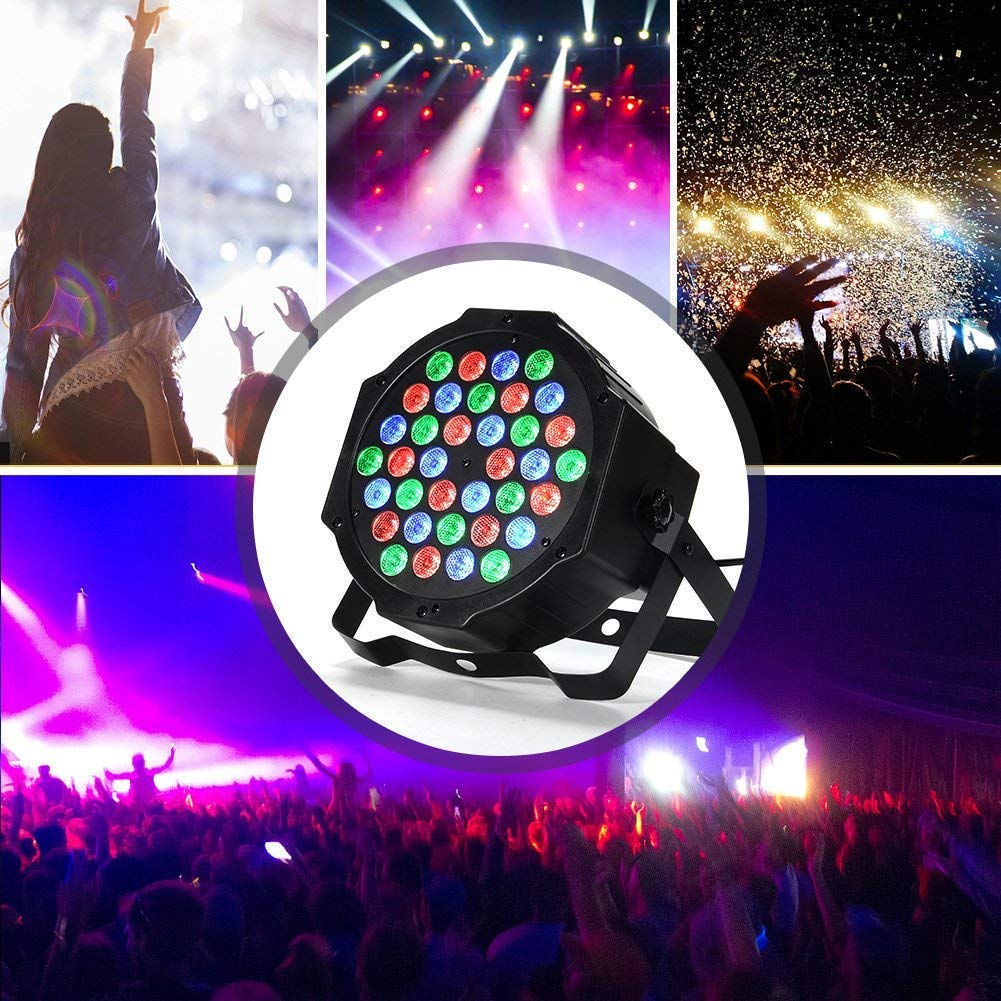 LUNSY DJ Par Lights, 36LEDs Stage Lighting Par Can Controlled by Remoter and DMX Control - 2 Pack by LUNSY (Image #7)