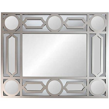 Northlight 29.5 Gray Framed Geometric Openwork Rectangular Wall Mirror