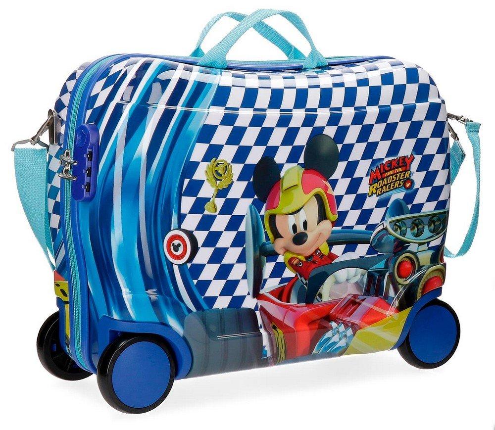 Kinderkoffer zum Sitzen - Mickey Race Sitzkoffer