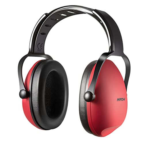 Ear Defenders, Mpow Kids Noise Reduction Earmuffs, Baby Ear Defenders Adjustable Headband Hearing Protection -- Cherry Red