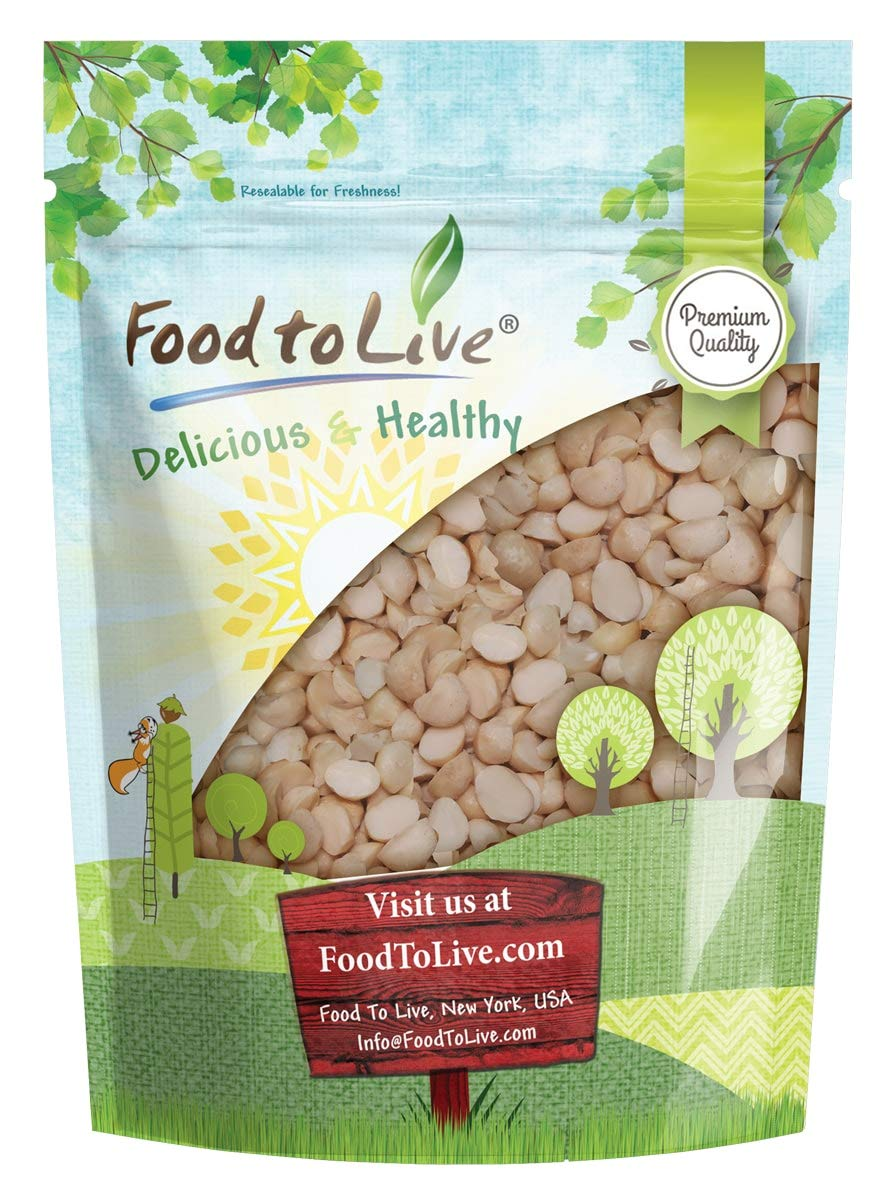 Macadamia Nut Pieces, 8 Ounces - Raw, Chopped, Unsalted, Unroasted, Kosher, Vegan, Bulk, Great for Baking by Food to Live