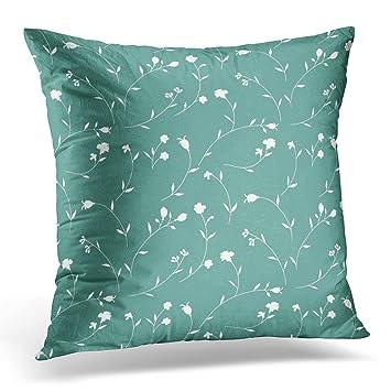 Amazon Breezat Throw Pillow Cover Blue Small Floral Pattern Extraordinary Tiny Decorative Pillows