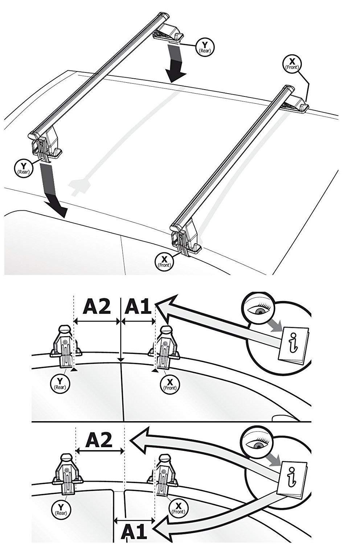 Alluminio XONE ACCESSORI SRL Set di 2 Barre SPECIFICHE con Kit di Montaggio per C-Max II 5 Porte dal 2010  2018