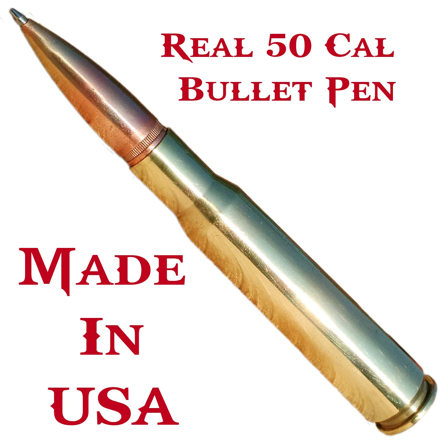 Anniversary Gifts For Men   50 Caliber Bullet Pen   Made In USA   Custom Engraved Personalized Box by Brass Honcho (Image #3)