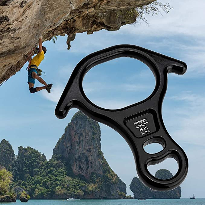 Mountaineering Rock Climbing Tree Figure 8 Descender Belay Rappel Equipment FO