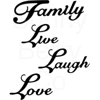 Live Laugh Love Family Set 4 Metal Wall Word Sculpture, Black Metal Wall Decor Art by Sunny Berry Co