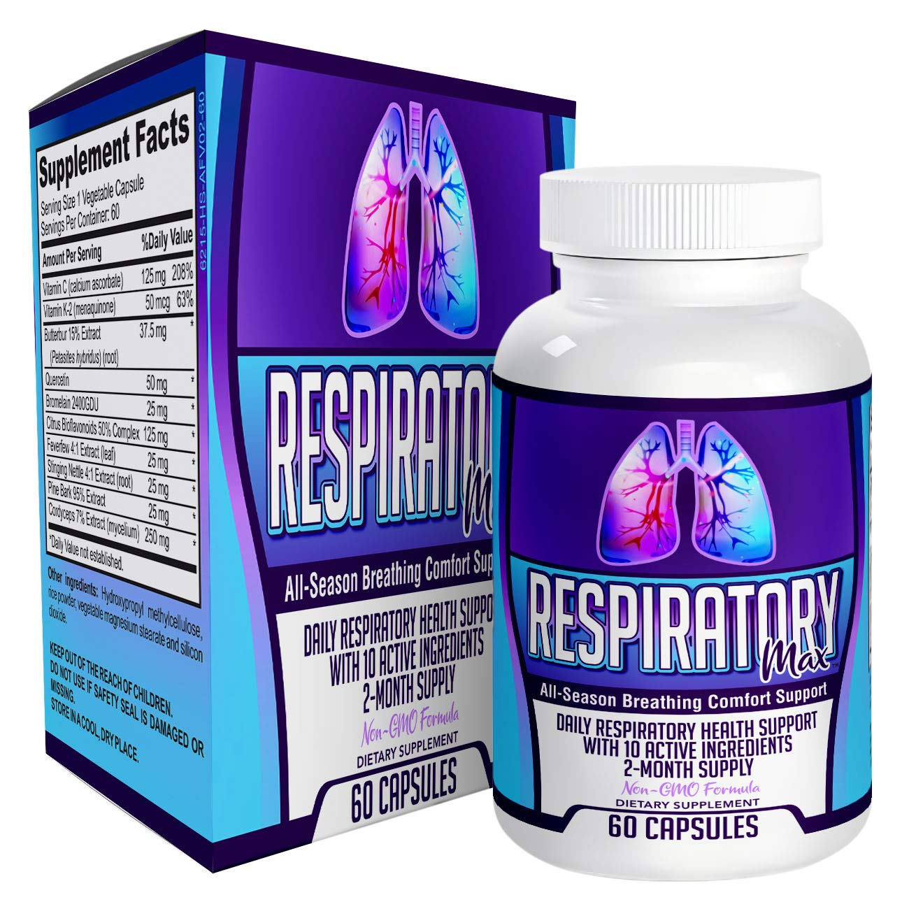 Respiratory-Max: Daily Breathing Health Support Supplement - Lung  Formula/Supplements