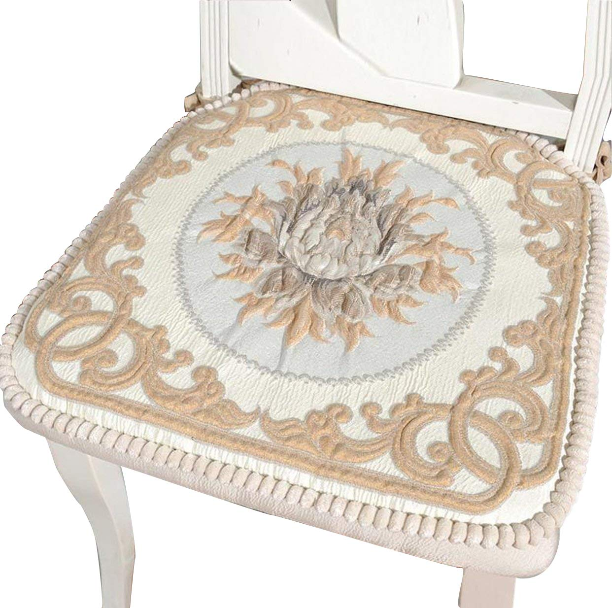"Sideli Foam Kitchen Chair Pads Non slip 16""x16"" - Set of 2,(2, COLOR1) Haomengde"