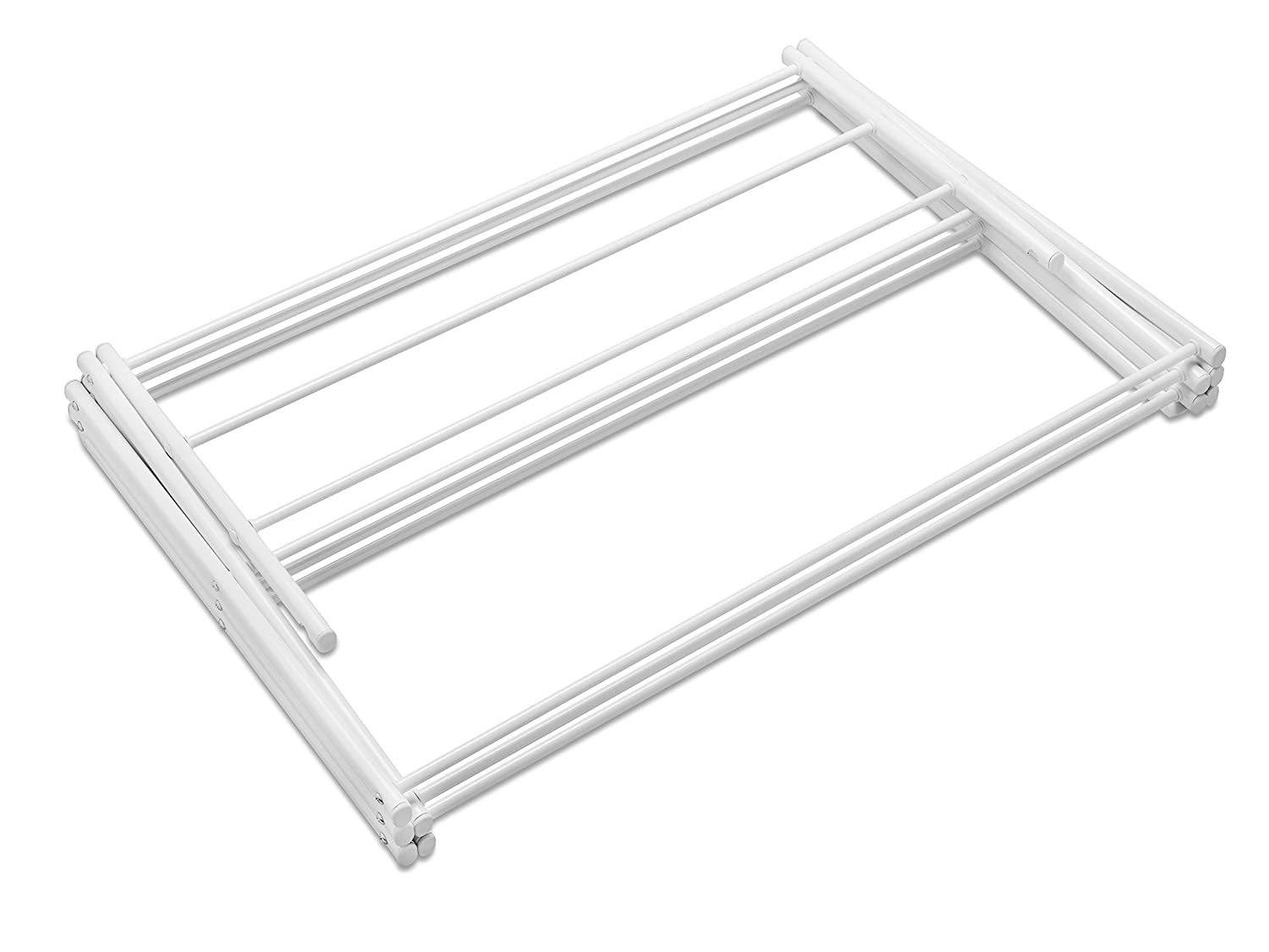 Whitmor 6023 741 Folding Clothes Drying Rack White Rust Proof Guarantee Premium Quality Co Uk Kitchen Home