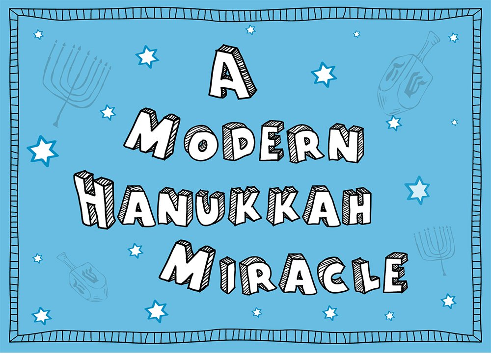 Tree-Free Greetings Hanukkah Cards and Envelopes, Set of 10, 5 X 7-Inch, Modern Miracle (HB93382) Tree-Free Greetings Canada