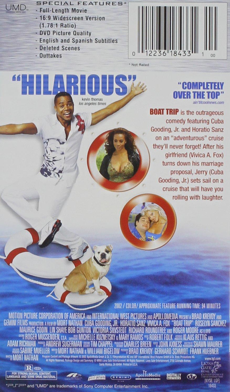 Amazon.com: Boat Trip [UMD for PSP]: Cuba Gooding Jr., Horatio Sanz,  Roselyn Sanchez, Vivica A. Fox, Maurice Godin, Roger Moore, Lin Shaye, ...