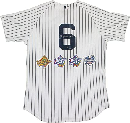 e2e3fd6c8 Joe Torre Signed New York Yankees Authentic Pinstripe Jersey with World  Series Patches (Size 48