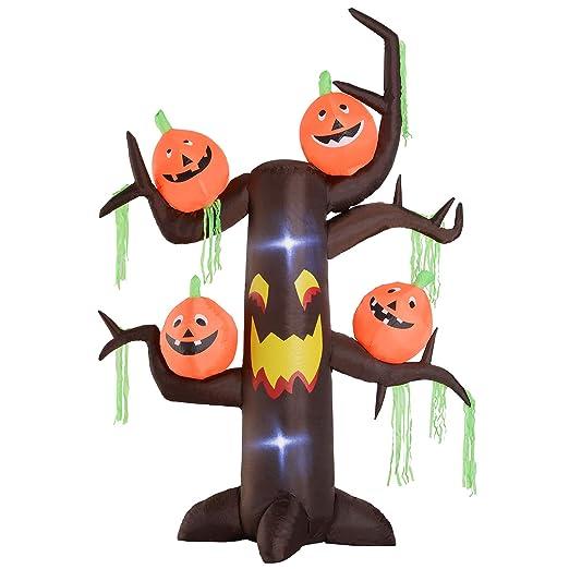 Homcom - Árbol hinchable de Halloween con fantasmas y calabazas ...
