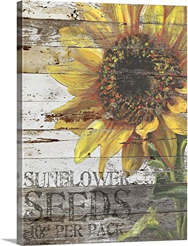 Sunflower Seeds Sign Canvas Wall Art Print