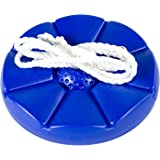 Blue Disc Tree Swing with Rope for Outdoor Play