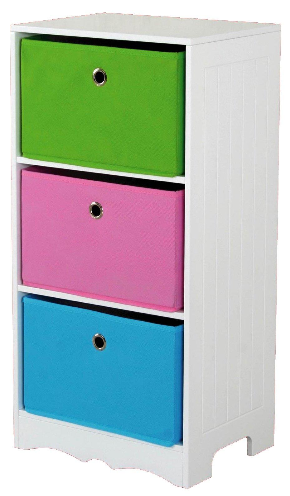 Home Basics Storage Shelf, 3-Drawer