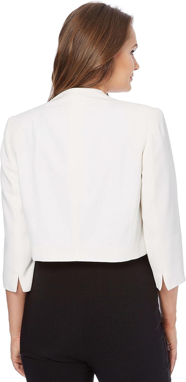 Abbigliamento da donna con scollo rotondo per ufficio colloqui come madre della sposa Roman Originals Giacca da donna con maniche a 3//4 lavoro