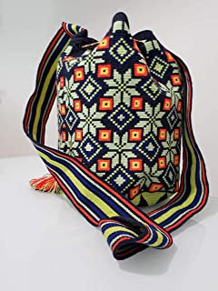 Colombian Wayuu Mochila Bag From Our Exclusive Handmade Custom Crafted Collection That Is 100% Authentic