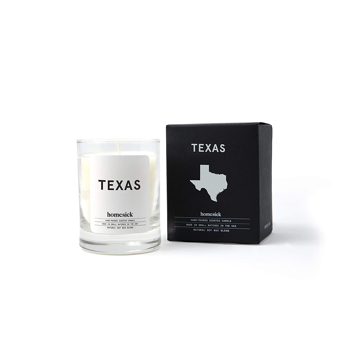 Homesick Mini Scented Candle (10 to 12 hr Burn Time) Home, 1.5 oz, Texas