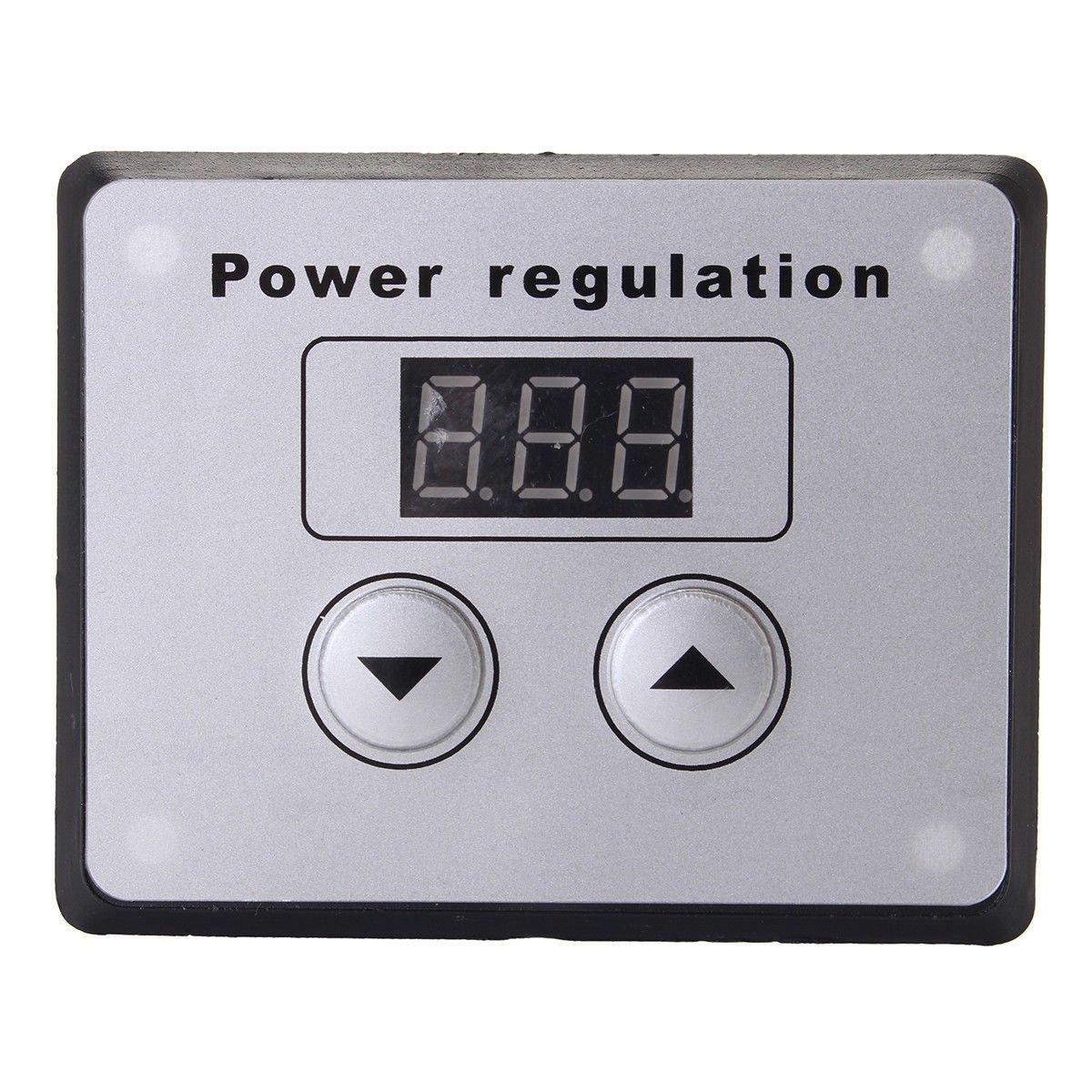 TOOGOO 4000W 220V AC SCR regolatore di tensione Dimmer elettrico di velocita del motore regolatore di temperatura per lacqua riscaldatore piccoli motori
