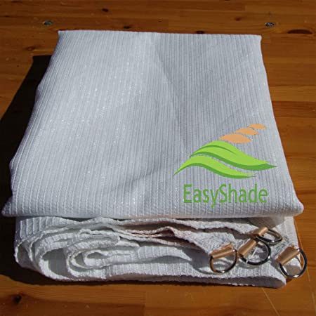 EasyShade Ready-to-Hang Rectangle Shade Sail Canopy for Patio, Lawn, Yard, Decks, Porches, Swimming Pools 14 x 20 , White